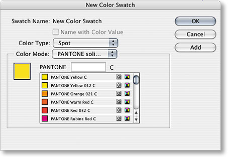 new color swatch