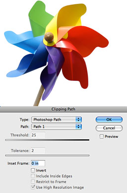 Clipping Path Step 2